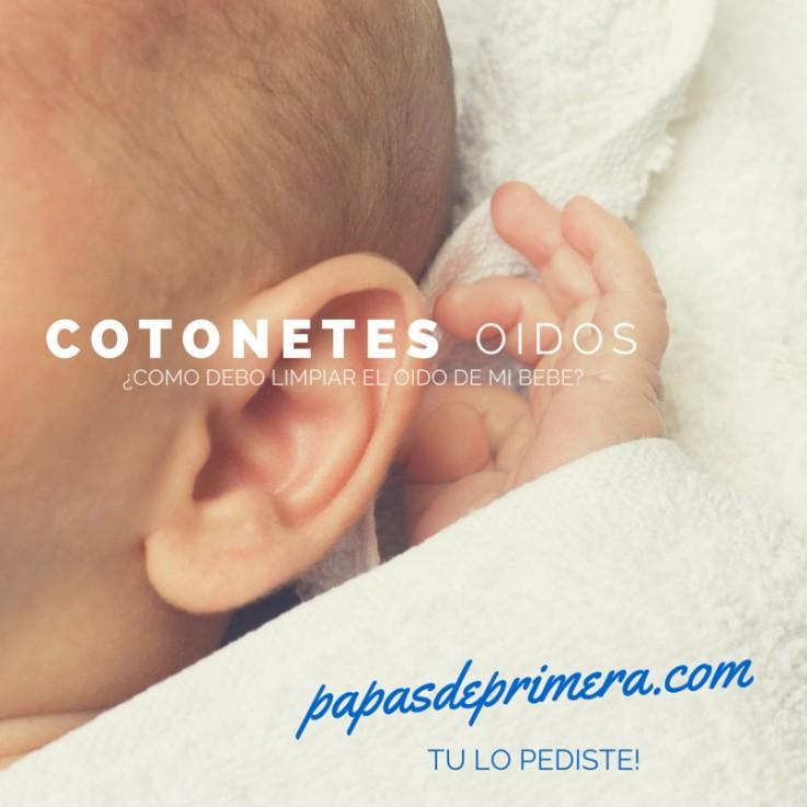 Oido del bebe, cotonetes, limpieza